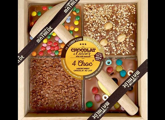 4 Choc' assortiment Chocolat lait - Chocolat à casser
