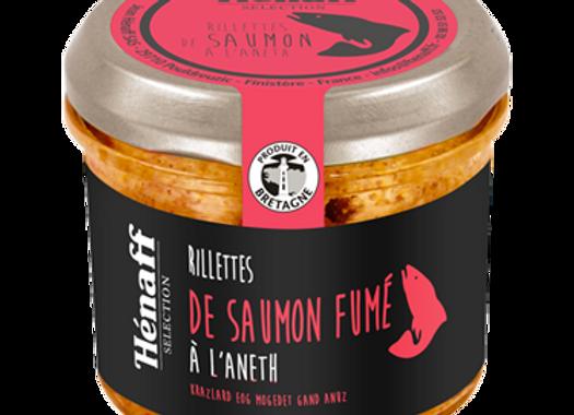 Rillettes de saumon fumé à l'aneth