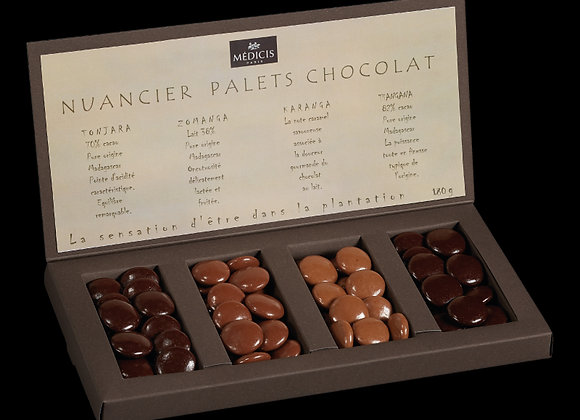 Nuancier Palets Chocolats Pure Origine 180g