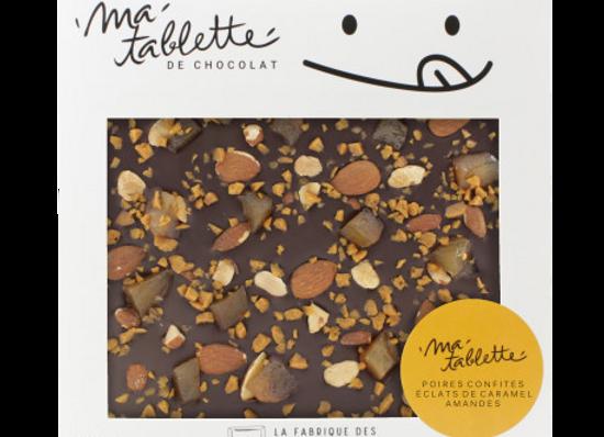 Tablette chocolat noir-Fruits secs 200g