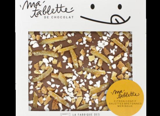 Tablette chocolat au lait - Citron Meringué 200g
