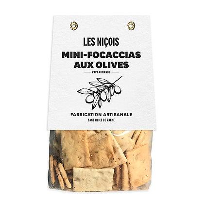 Mini-focaccias aux olives