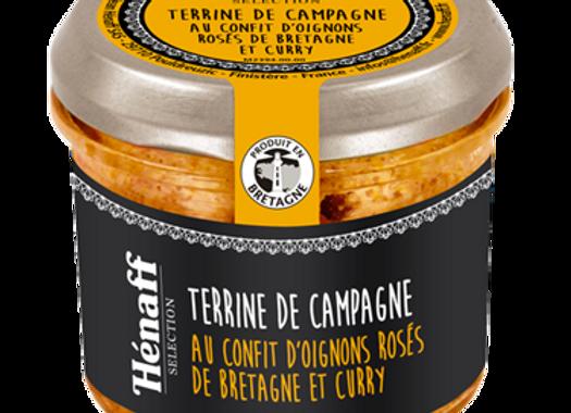 Terrine de campagne au confit d'oignons rosés de Bretagne et curry