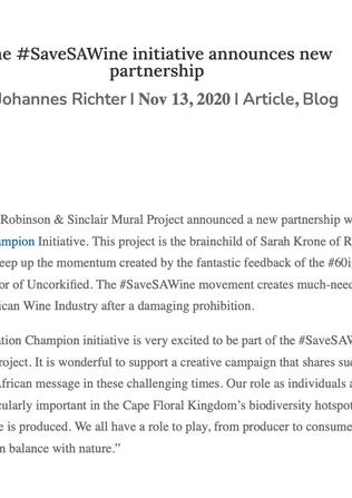 The #SaveSAWine initiative announces new partnership - Wineland