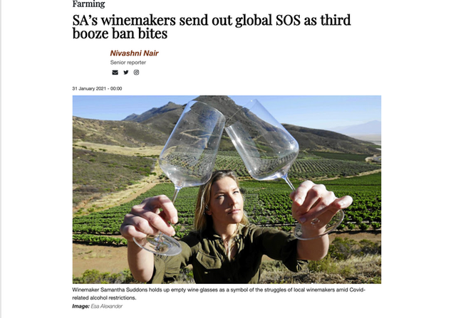 SA's winemakers send out global SOS as third booze ban bites