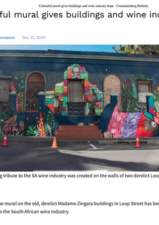 Colourful mural gives buildings and wine industry hope - Constantiaberg Bulletin