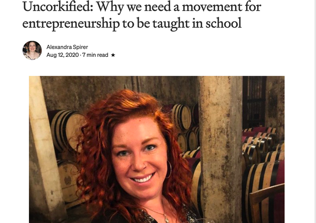 Writer and Sommelier Erica Taylor of Uncorkified_ Why we need a movement for entrepreneurship to be taught in school _ by Alexandra Spirer _ Authority Magazine _ Medium