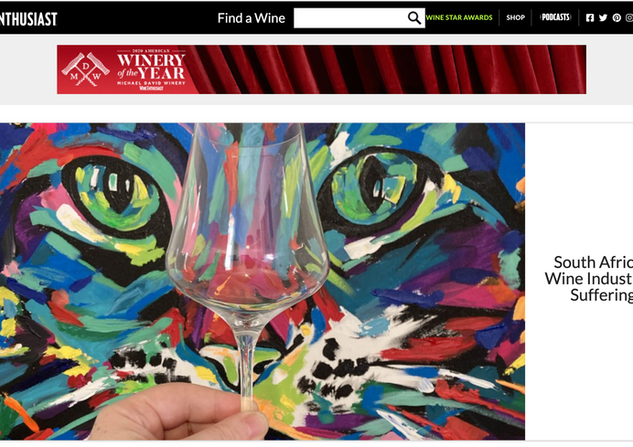 Wine Enthusiast Front Page