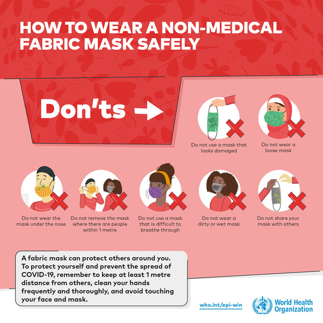 How to wear non medical mask safely Spin