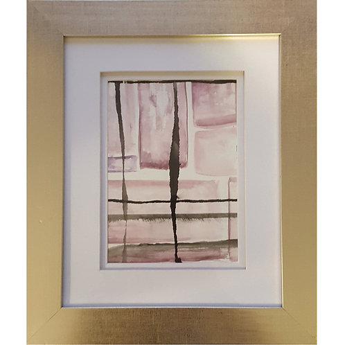 Framed Watercolor- WC1217.4