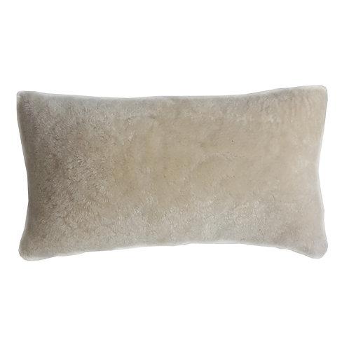 "16"" x 10"" Genuine Shearling/ Ultrasuede Pillow"