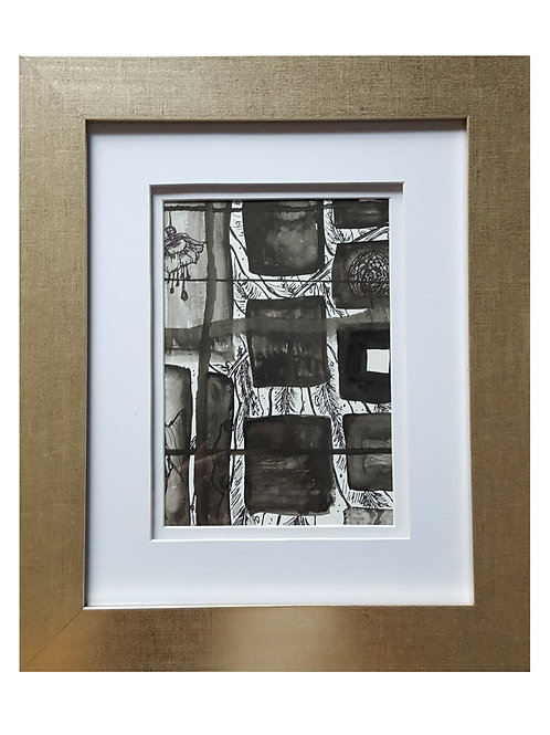 Framed Watercolor- WC1217.9