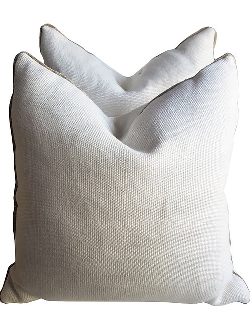 "18""sq Eco Luxe Canvas-Burlap Pillow"
