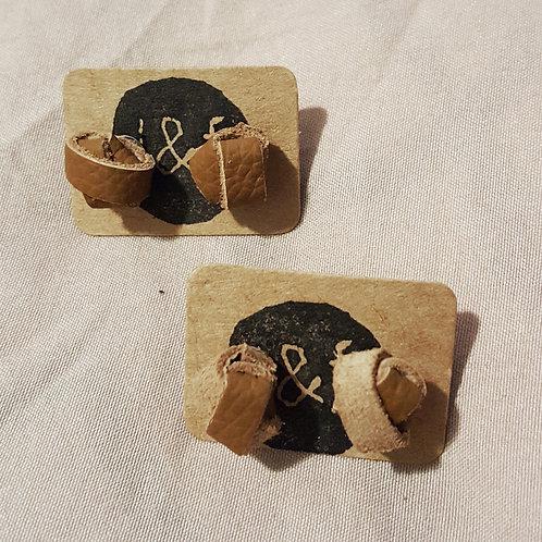 Leather Stud Earrings