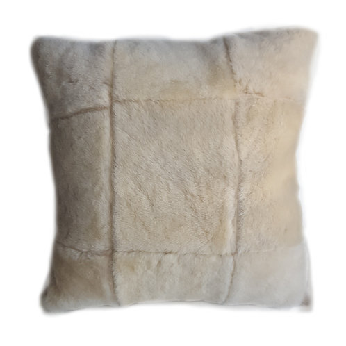 "18""sq Genuine Shearling/ Ultrasuede Pillow"