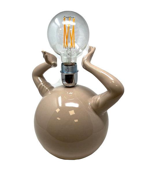 """LAMPADA IN CERAMICA BEIGE """"HANDS"""" H.36"""