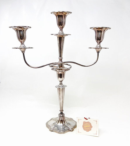 CANDELABRO 1/3 FIAMME IN SHEFFIELD ANNI '20