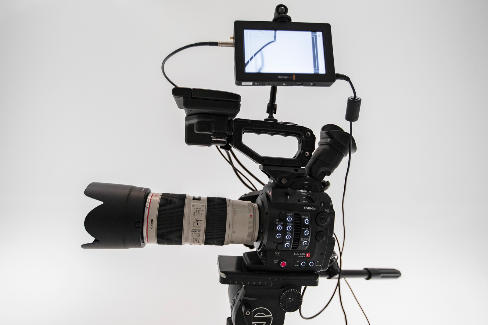 Canon c300 Mark II with Canon 70-200 f/2 8L IS II lens