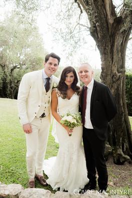 Wedding Celebrant with happy couple