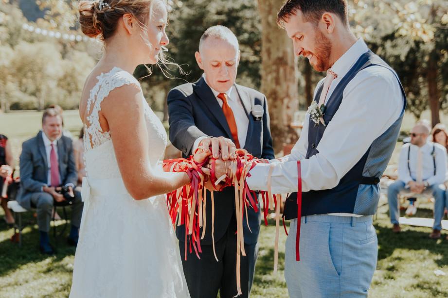 Handfasting at wedding