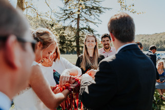 Handfasting ceremony in France
