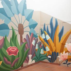 Mural en un patio