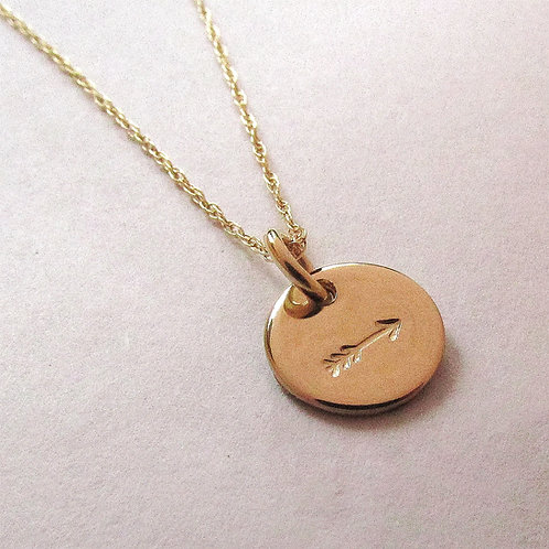 Gold Arrow Necklace - 14 kt gold