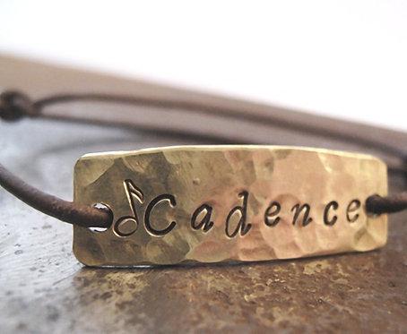 personalized bracelet - hand stamped id bracelet