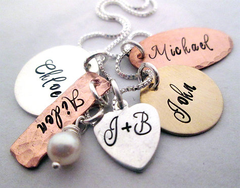 Charming Family - Hand Stamped Jewelry
