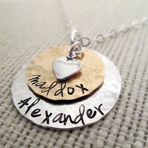 Layered LoveII - Jenna -  Mom Necklace