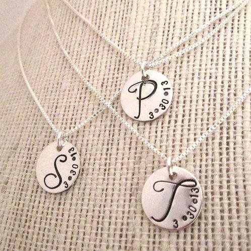 Bridesmaid Initial Necklace - Monogram Necklace