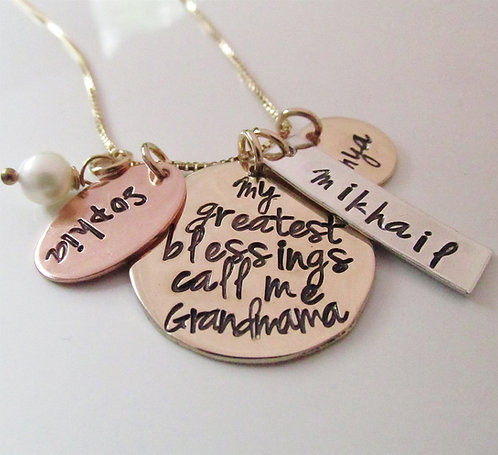 Golden Blessings Hand Stamped Jewelry