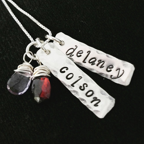 Mother's Gemstone Necklace