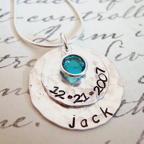 Celebrate sterling silver personalized necklace