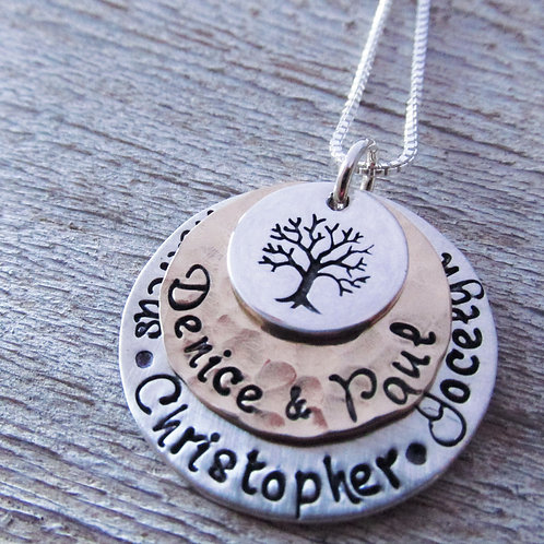 Favored - Tree Necklace- Personalized Jewelry