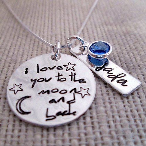 To the moon and back Mother's Necklace