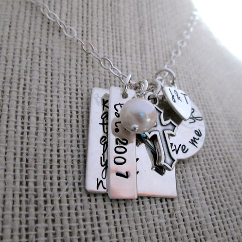God Gave Me You Family Necklace