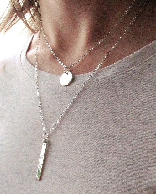Sterling Silver Double Strand Necklaces