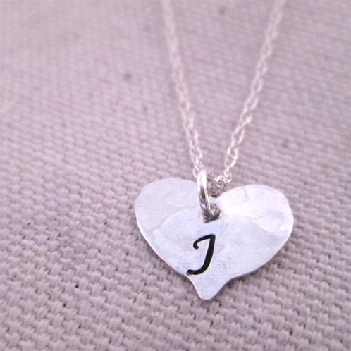 Heart Initial Necklace - Personalized Jewelry