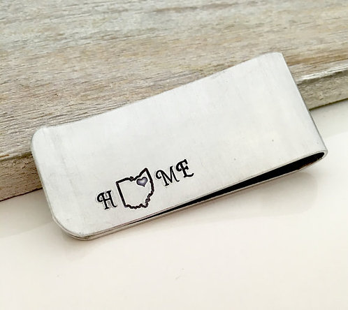 Home State - Aluminum Money Clip