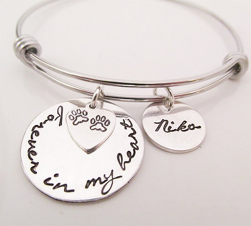 Forever in my Heart Necklace - Dog Remembrance