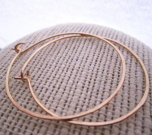 Simple 14kt gold filled hoops - gold hoops - hoop