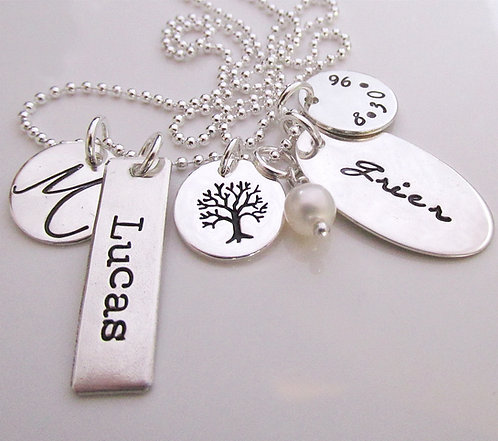 Charmed - personalized necklace - family necklace