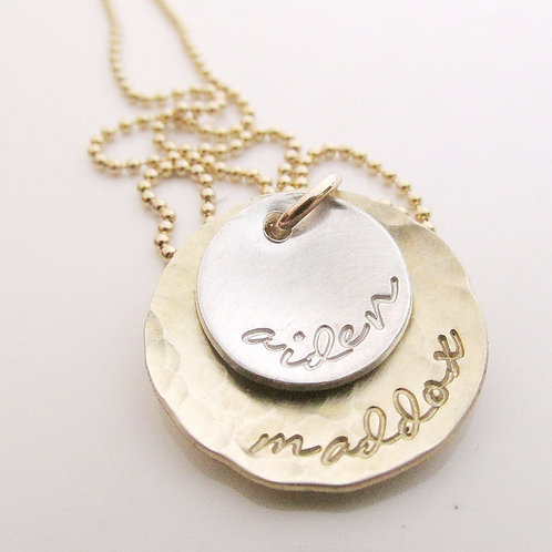 My Loves - Gold and Silver Mother's Necklace