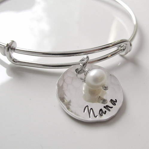 Nana Bracelet - Hand Stamped Nana Gift
