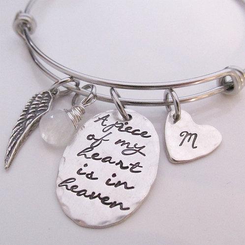 Memorial Bracelet - A Piece of My Heart Bracelet