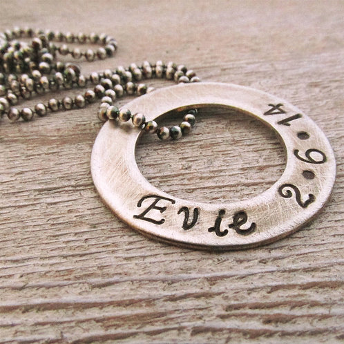 Men's Washer Necklace