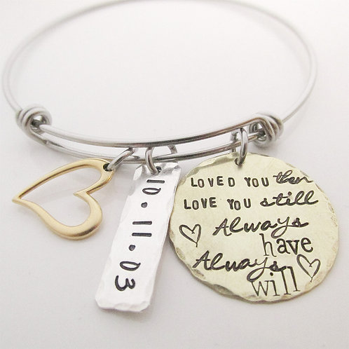 Loved You Then - Charm Bracelet - Personalized
