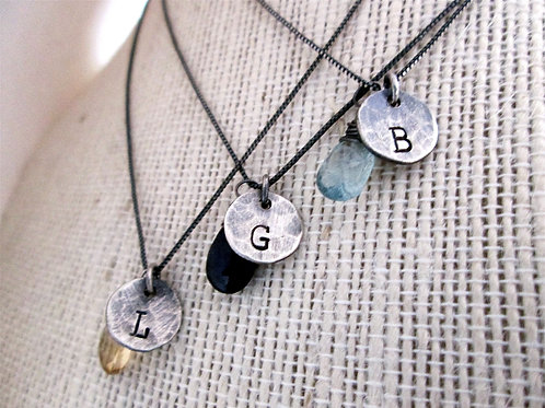 Rustic Bridesmaid Necklaces -Set of 3 -Personalize