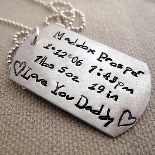 Father's Tag Necklace